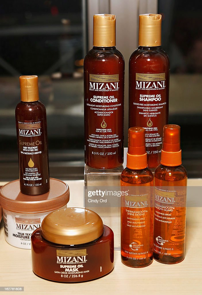 A view of Mizani products at 'The Spoken Word' hosted by Kim Coles at L'Oreal Soho Academy on February 26, 2013 in New York City.