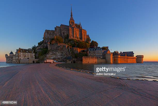 View of Mont Saint-Michel, Normandy, France