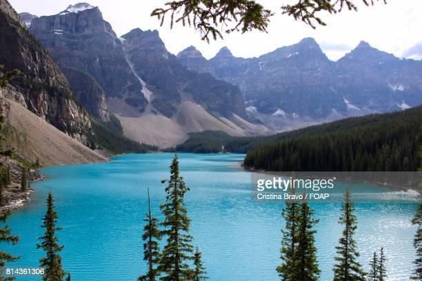 View of Moraine Lake, Alberta, Canada