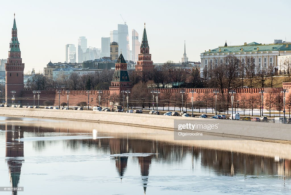 View of  Moscow Kremlin from  river, Russia : Stock Photo