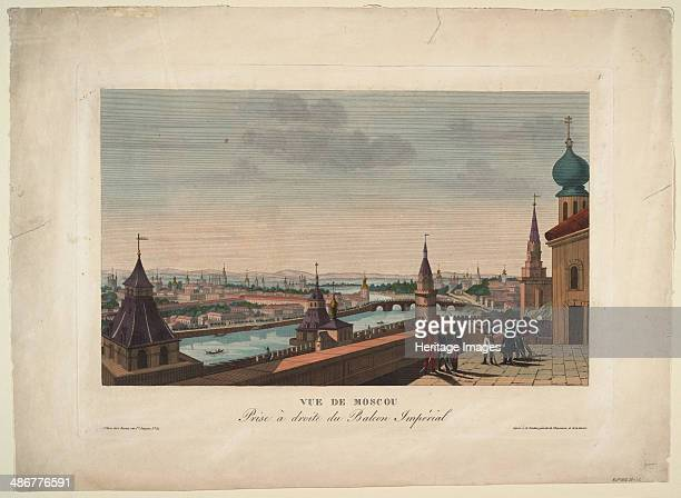 View of Moscow taken from the balcony of the Imperial Palace 1812 Artist CourvoisierVoisin Henri