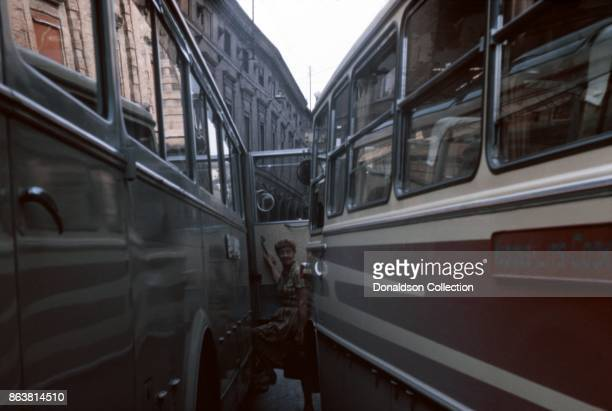 A view of motor coaches on September 17 1963 in Rome Italy