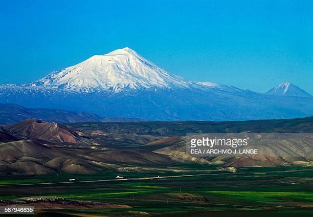 View of Mount Ararat Eastern Anatolia Turkey