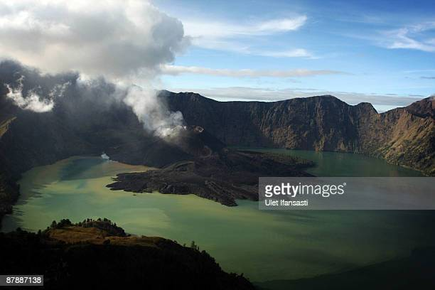 A view of Mount Rinjani also known as Gunung Rinjani is seen on May 19 2009 in Lombok West Nusa Tenggara Province Indonesia The 3726m active volcano...