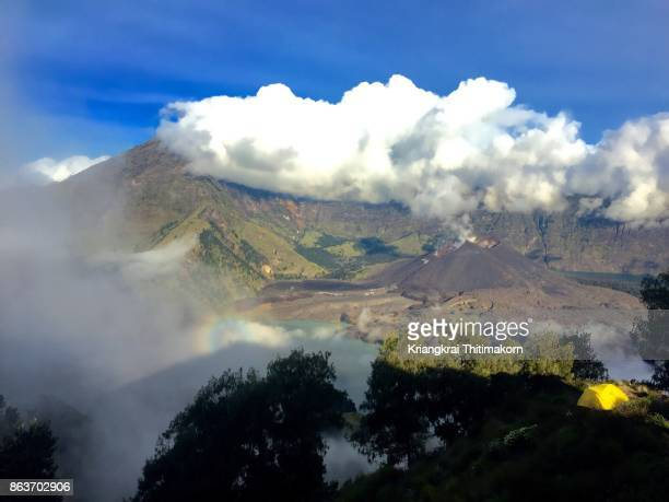 View of Mount Rinjani in the morning, Lombok, Indonesia.