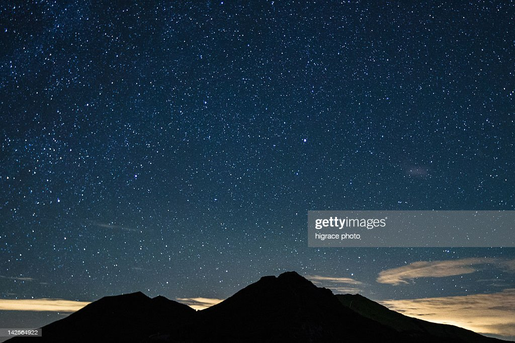 View of mountain in backlit : Stock Photo