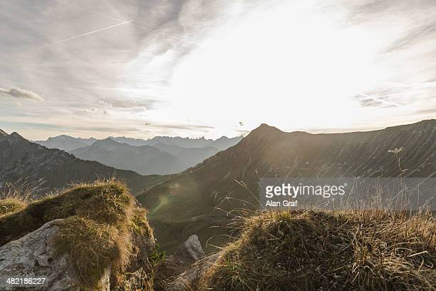 View of mountain landscape, Achensee, Tyrol, Austria