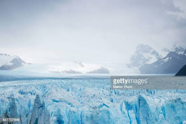 View of mountains and glaciers, Patagonia