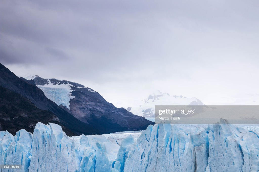 View of mountains and glaciers, Patagonia : ストックフォト