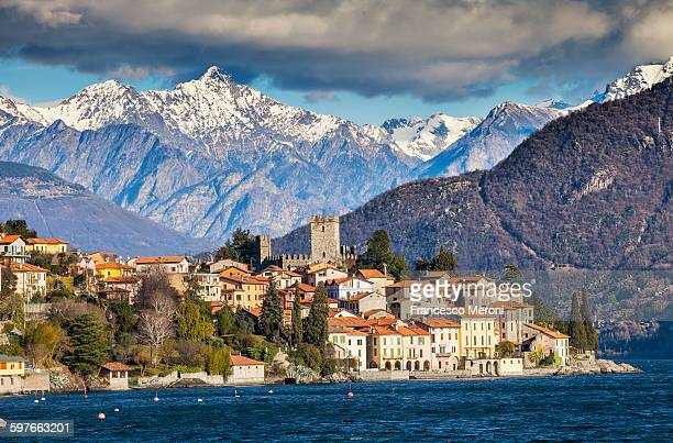 View of mountains and Lake Como, Italy