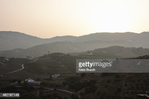 View of mountains and valleys, Costa del Sol, Spain