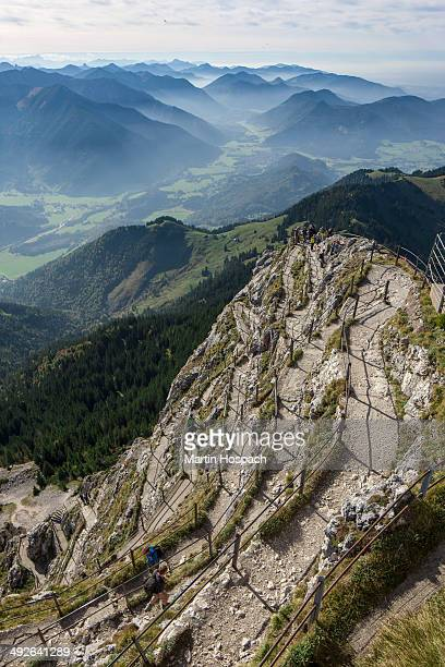 View of mountains from the summit of Wendelstein, Bavaria, Germany