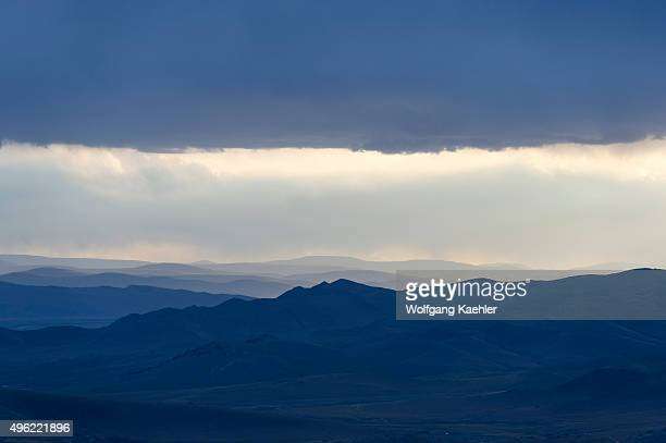 View of mountains of the Orkhon Valley near Kharakhorum in Mongolia