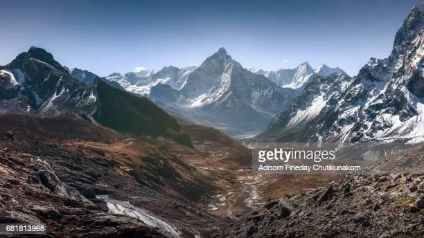 View of Mt.Ama Dablam in Himalaya range, Nepal