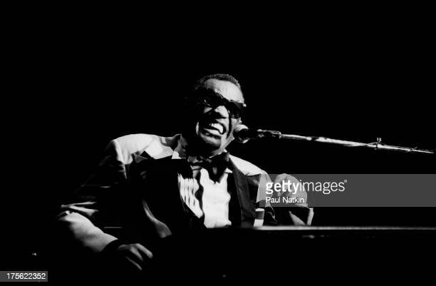 View of musician Ray Charles performing at Park West auditorium Chicago Illinois September 22 1978
