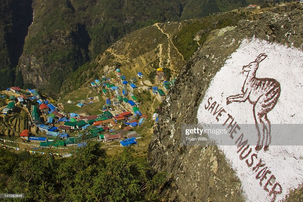 View of Namche Bazaar : Stock Photo