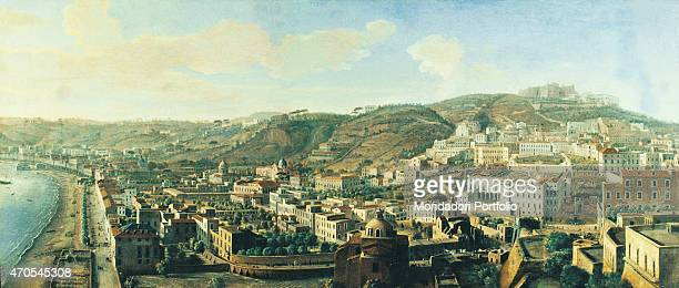 'View of Naples with the District of Chiaia from Pizzofalcone by Gaspar van Wittel 18th Century oil on canvas Italy Campania Naples Villa Pignatelli...