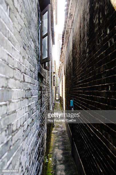View Of Narrow Alley Along Buildings