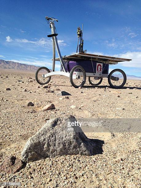 View of NASA robot called Zoe at the Atacama desert near Domeyko range about 2300m high in the Antofagasta region on June 26 2013 Zoe started its...