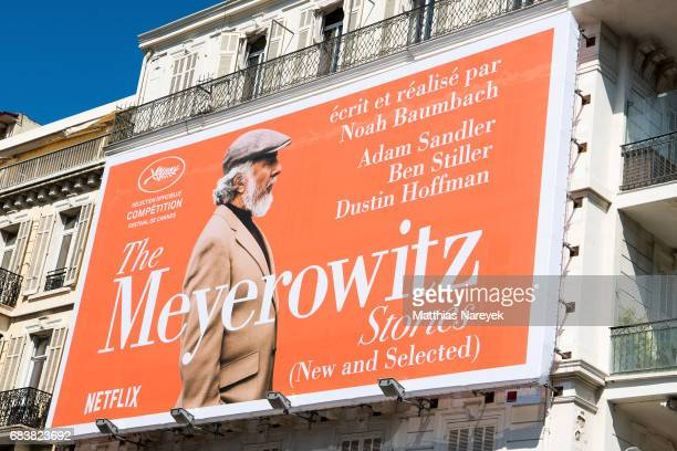 A view of Netflix 'The Meyerowitz' signage during the 70th annual Cannes Film Festival at on May 16 2017 in Cannes France