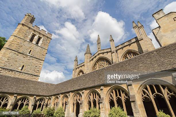 A view of New College at the University of Oxford in Oxford England The college was founded in 1379