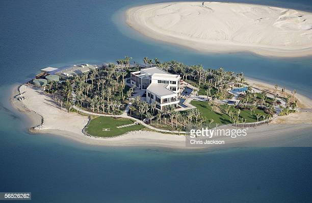 A view of new development The World is seen from the air December 17 2005 in Dubai United Arab Emirates The World consists of over 300 man made...