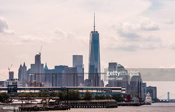 A view of New York City as seen from the CitySightseeing cruise on August 27 2015 in New York City