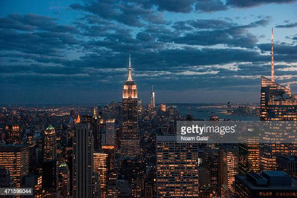 A view of New York City during the 2015 Mother's Day celebration to benefit dress for success at The Weather Room at the Top of the Rock on April 29...