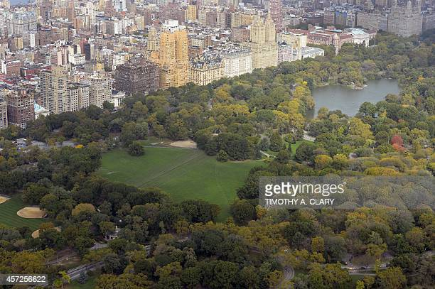 A view of New York city to to the north and Central Park from the 75th floor of 432 Park Avenue October 15 2104 the day after it earned the...