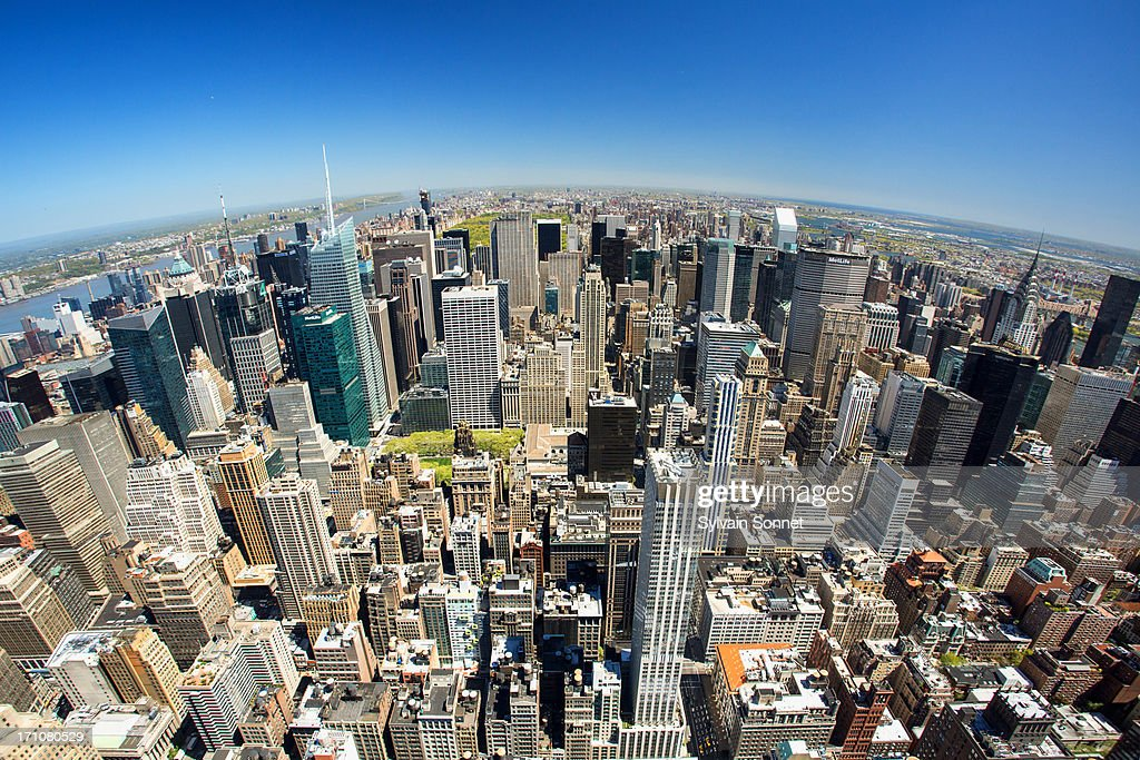 view of New York from Empire State Building : Stock Photo