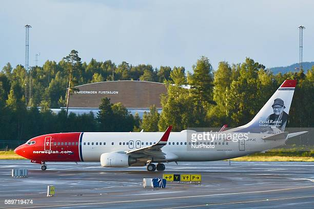 A view of Norwegiancom plane at Oslo Gardermoen International Airport on Monday 15 August 2016 in Gardermoen Norway