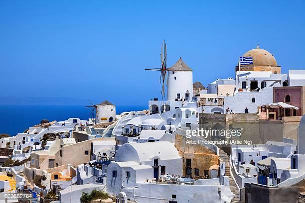 View of Oia Village, Santorini, Greece