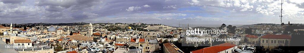 View of old city of Jerusalem : Stock Photo