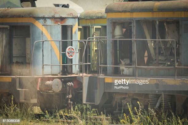 A view of old locomotives near Meknes town On Friday June 30 in Meknes Morocco
