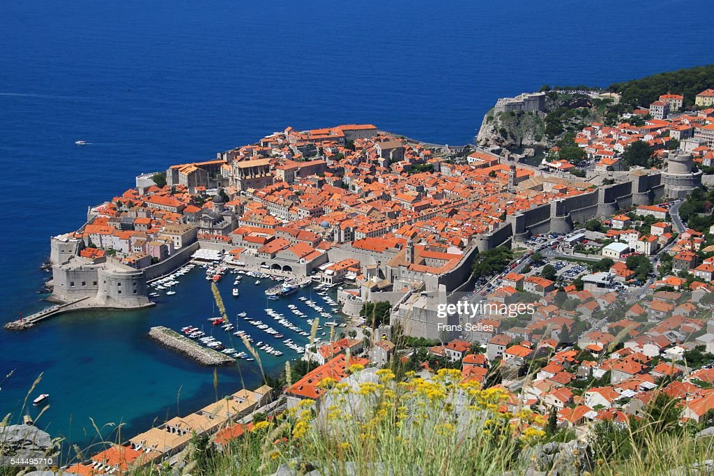 View of Old Town, the walled city of Dubrovnik, UNESCO World Heritage Site, Dalmatia, Croatia