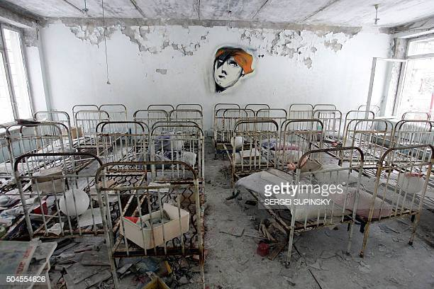 A view of one of bedrooms in kindergarten in the ghost town of Pripyat near Chernobyl's nuclear power plant 27 February 2006 Chernobyl's numberfour...