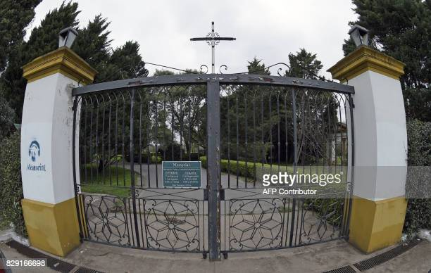 View of one of the entrances of the Memorial park on August 10 2017 in Pilar Buenos Aires outskirts where Jorge Zorreguieta father of Netherlands'...