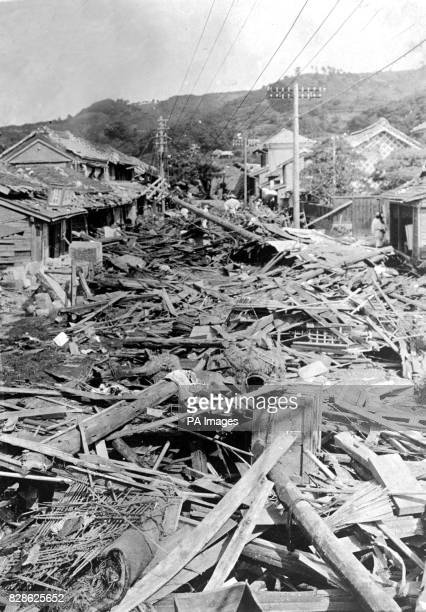 A view of one of the outlying districts of Tokyo after the earthquake