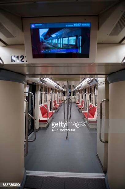 View of one of the trains of line 6 of the Santiago subway that will be inaugurated next November 2 in Santiago October 31 2017 The new 15kmline of...