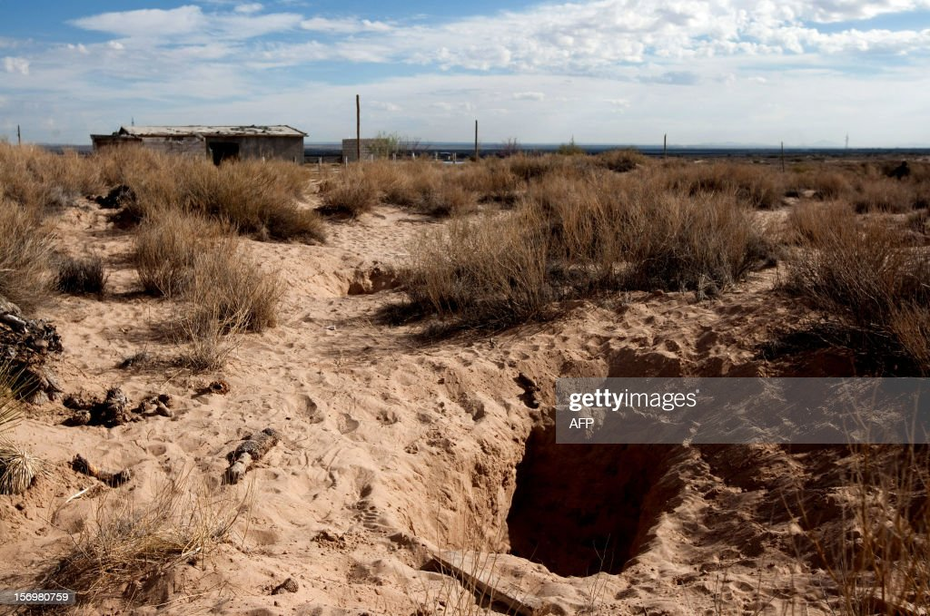 View of one of three mass graves found by members of the General Attorney's Office Special Unit for Investigation of Missing Persons in La Colorada...