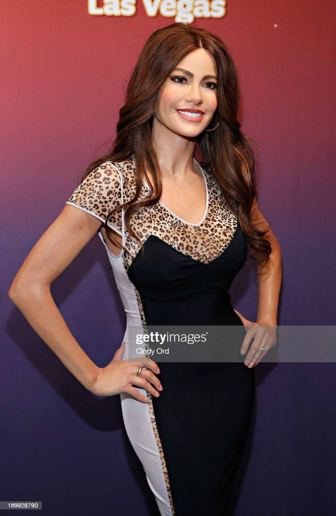 A view of one of two Madame Tussauds wax figures in the likeness of Sofia Vergara which will be on display at Madame Tussauds locations in New York and Las Vegas on June 4, 2013 in New York City.