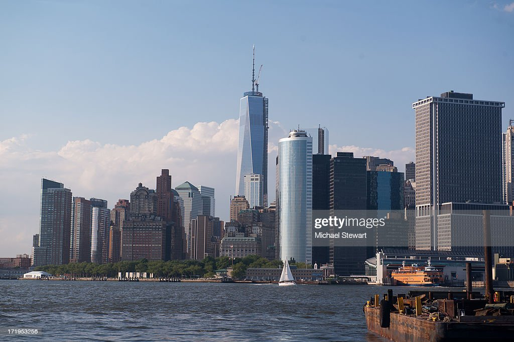 A view of One World Trade Center and the lower New York City skyline during MATINEE New York Pride 2013 at Governor's Island on June 29, 2013 in New York City.