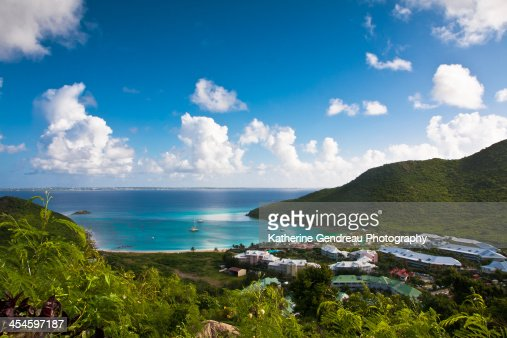 View of Orient Bay from Anse Marcel on St Maarten