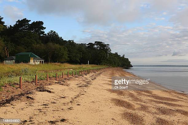 A view of Osborne Bay Queen Victoria's private beach at Osborne House on the Isle of Wight which which will open to the public for the first time...
