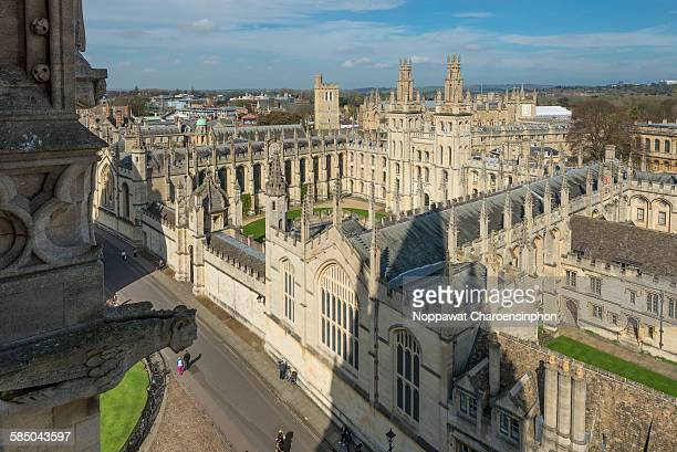 View of Oxford Skylines including All souls college Oxford United Kingdom