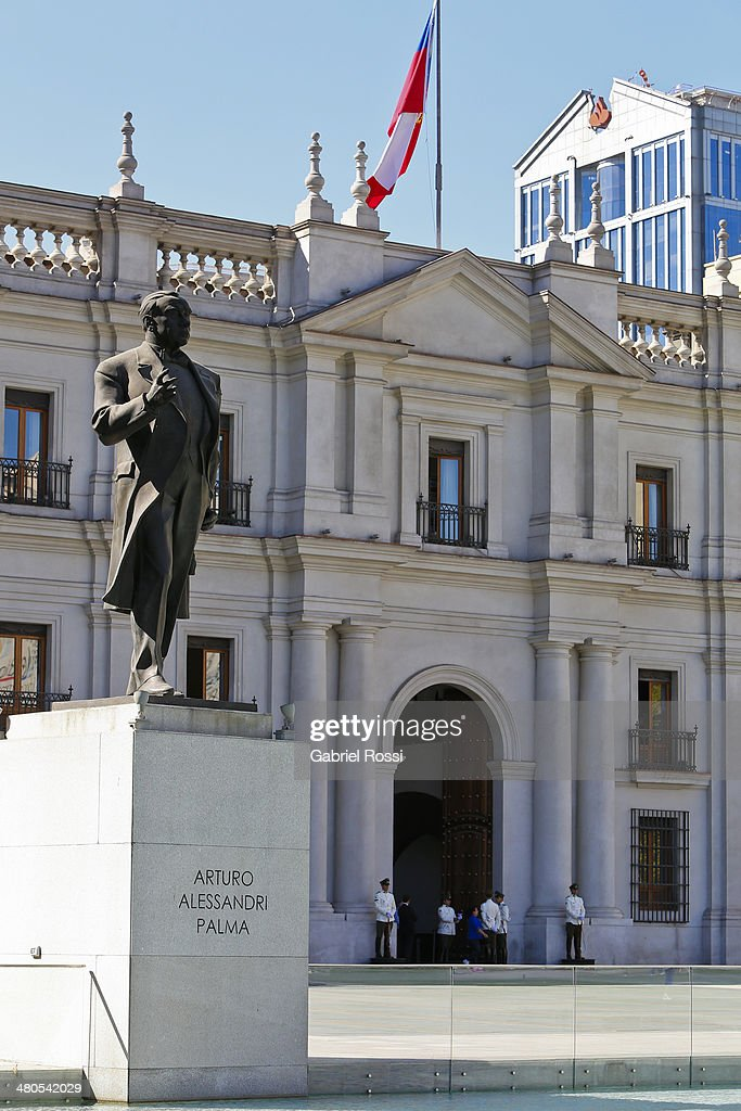 View of Palacio de la Moneda on March 17, 2014 in Santiago, Chile.