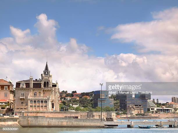 CONTENT] A view of Palacio Seixas and a small pier in the city of Cascais in a cloudy day Cascais was former fishing village gained fame as a resort...