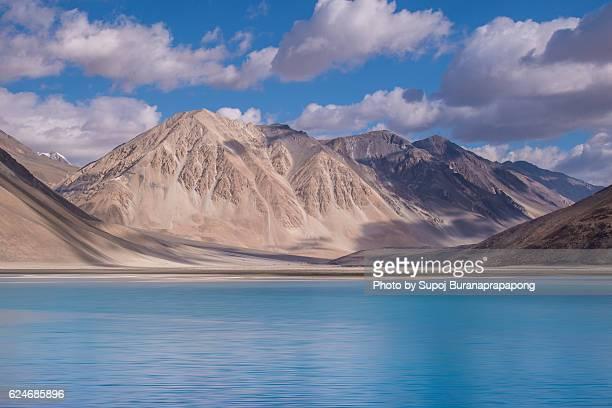 View of Pangong Tso Tibetan for 'high grassland lake'