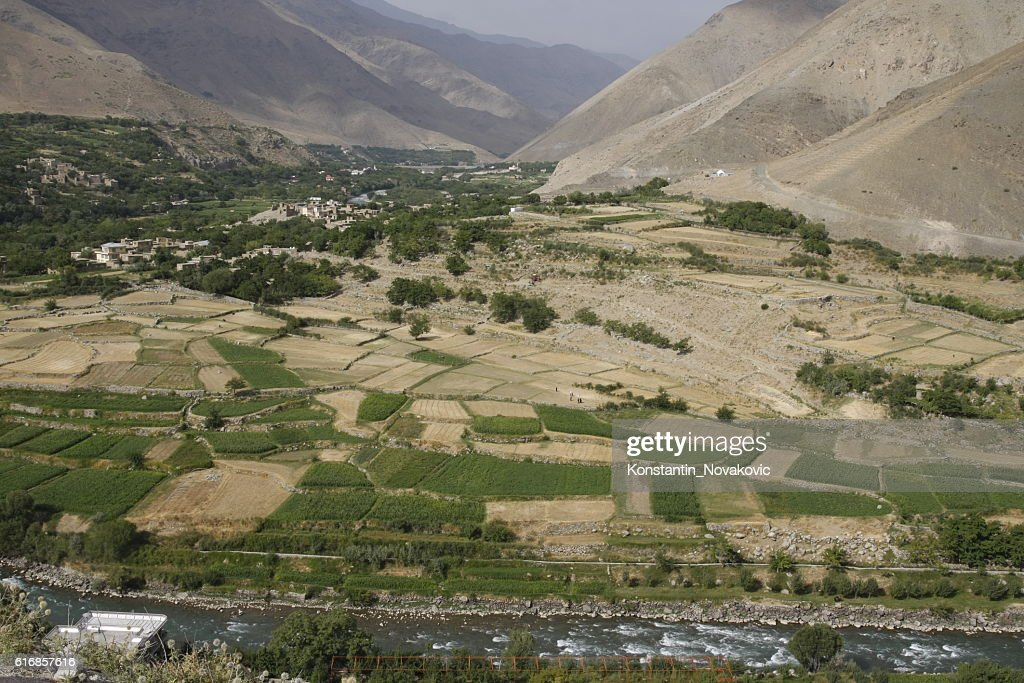 View of Panjshir valley, Afghanistan : Stock Photo