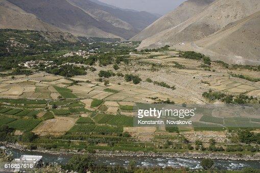 View of Panjshir valley, Afghanistan : Stock Photo